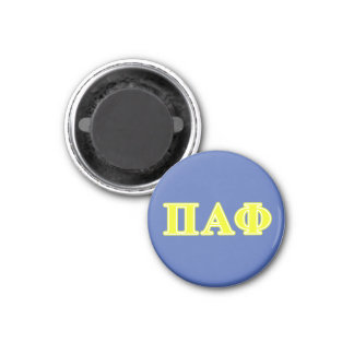 Pi Alpha Phi Yellow Letters 3 Cm Round Magnet