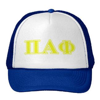 Pi Alpha Phi Yellow Letters Cap