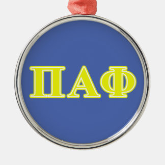 Pi Alpha Phi Yellow Letters Christmas Ornament