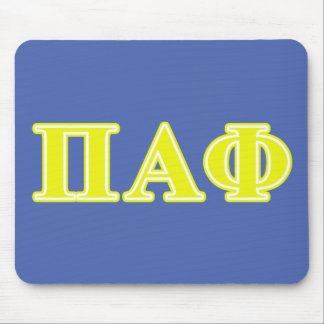 Pi Alpha Phi Yellow Letters Mouse Mat
