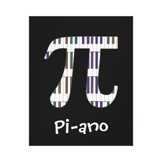Pi-ano Funny Pi Piano Music Geek Canvas Gallery Wrap Canvas