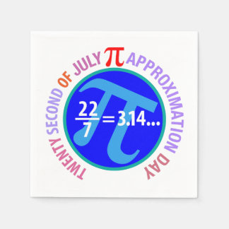 Pi Approximation Day Disposable Napkins