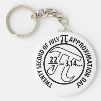 Pi Approximation Day Basic Round Button Key Ring