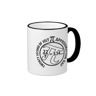 Pi Approximation Day Ringer Mug