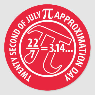 Pi Approximation Day Round Sticker
