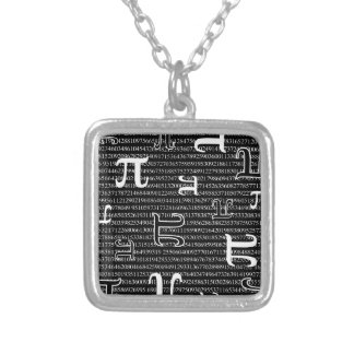 Pi are Square Silver Plated Necklace
