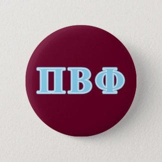 Pi Beta Phi Blue Letters 6 Cm Round Badge