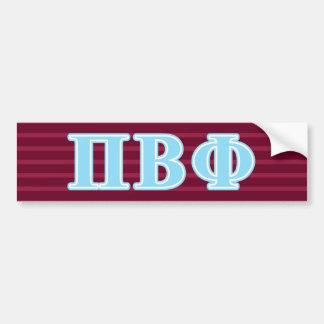 Pi Beta Phi Blue Letters Bumper Sticker