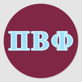 Pi Beta Phi Blue Letters Classic Round Sticker