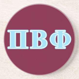 Pi Beta Phi Blue Letters Coaster