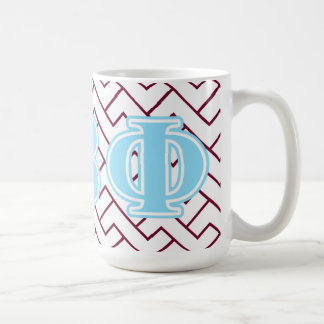 Pi Beta Phi Blue Letters Coffee Mug