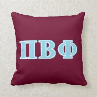 Pi Beta Phi Blue Letters Cushion