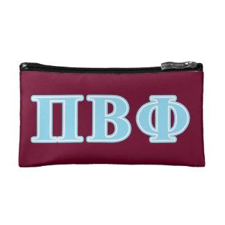 Pi Beta Phi Blue Letters Makeup Bag