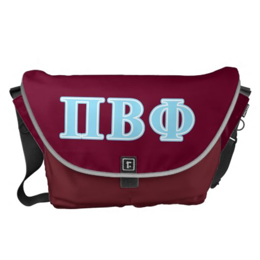 Pi Beta Phi Blue Letters Courier Bags