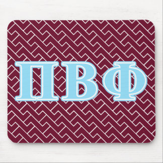 Pi Beta Phi Blue Letters Mouse Mat