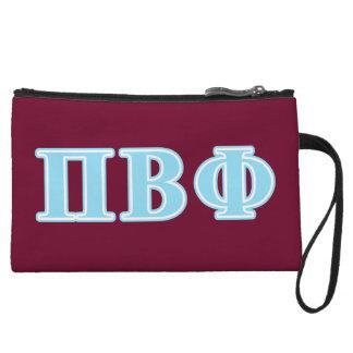 Pi Beta Phi Blue Letters Wristlet Clutches