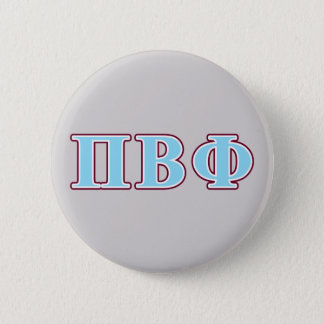 Pi Beta Phi Maroon and Blue Letters 6 Cm Round Badge