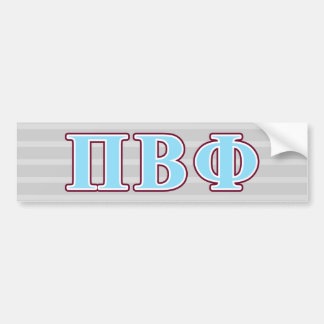 Pi Beta Phi Maroon and Blue Letters Bumper Sticker