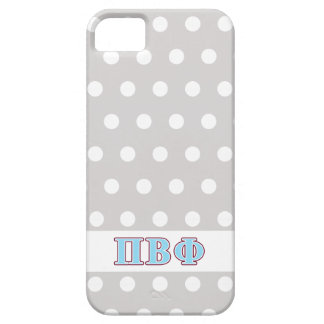 Pi Beta Phi Maroon and Blue Letters Case For The iPhone 5