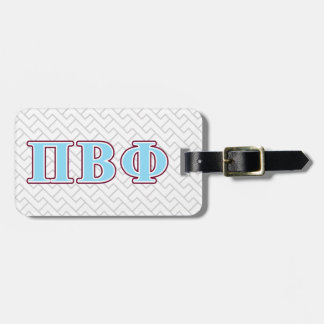 Pi Beta Phi Maroon and Blue Letters Luggage Tag