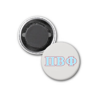 Pi Beta Phi Maroon and Blue Letters Magnet