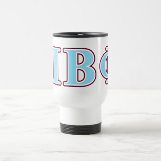 Pi Beta Phi Maroon and Blue Letters Travel Mug