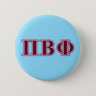 Pi Beta Phi Maroon Letters 6 Cm Round Badge