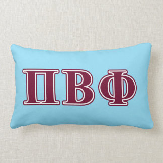 Pi Beta Phi Maroon Letters Lumbar Cushion