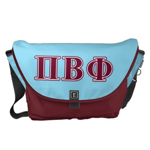 Pi Beta Phi Maroon Letters Messenger Bags