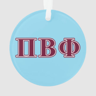Pi Beta Phi Maroon Letters Ornament