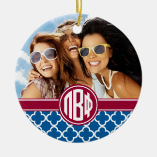 Pi Beta Phi | Monogram and Photo Christmas Ornament