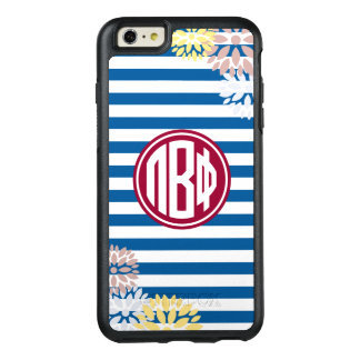 Pi Beta Phi | Monogram Stripe Pattern OtterBox iPhone 6/6s Plus Case