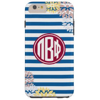 Pi Beta Phi | Monogram Stripe Pattern Tough iPhone 6 Plus Case