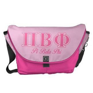 Pi Beta Phi Pink Letters Commuter Bag