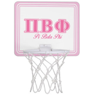 Pi Beta Phi Pink Letters Mini Basketball Hoop
