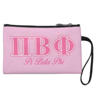 Pi Beta Phi Pink Letters Wristlet Purses