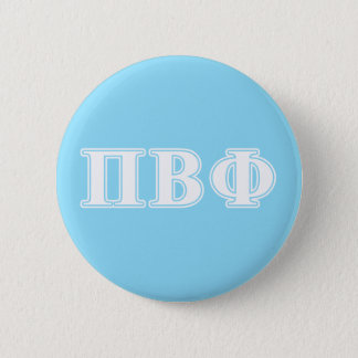Pi Beta Phi White and Blue Letters 6 Cm Round Badge