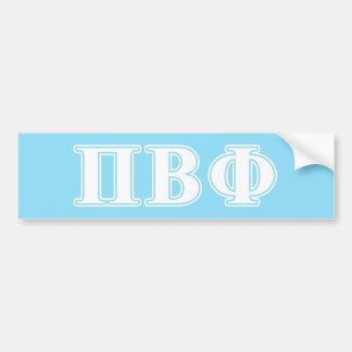 Pi Beta Phi White and Blue Letters Bumper Sticker