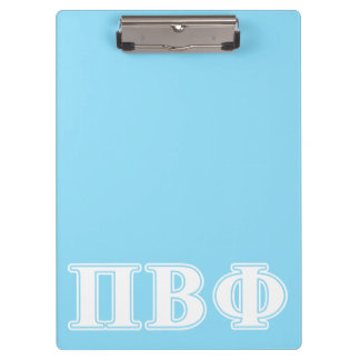 Pi Beta Phi White and Blue Letters Clipboard
