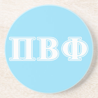 Pi Beta Phi White and Blue Letters Coaster