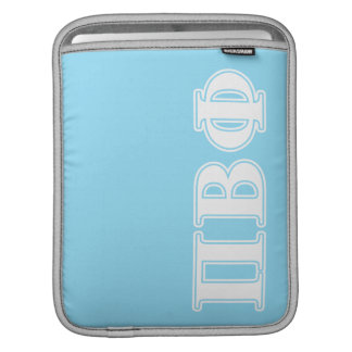 Pi Beta Phi White and Blue Letters iPad Sleeve