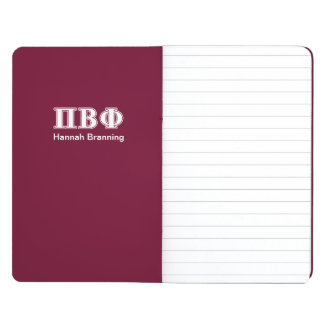 Pi Beta Phi White and Maroon Letters Journal