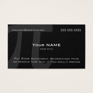Pi Business Card
