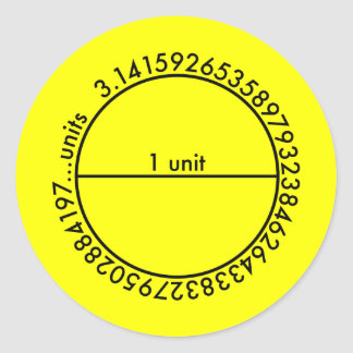 Pi Circle 1 Lemon Sticker Sticker