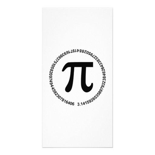 Pi circle photo card template