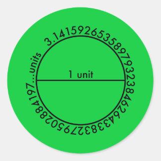 Pi Circle Round Sticker