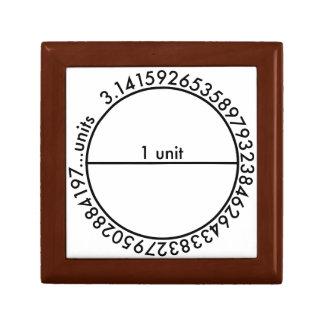 Pi Circle Small Square Gift Box