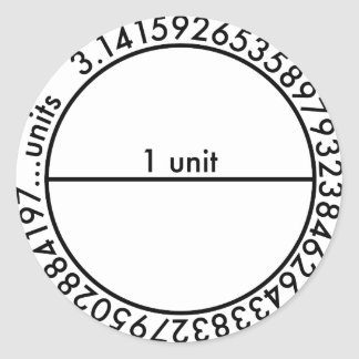 Pi Circle Stickers Stickers