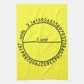 Pi Circle Tea Towel