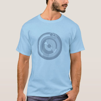 pi crop circle bluey grey tee